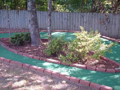 Red Course Hole #9 Flower Bed